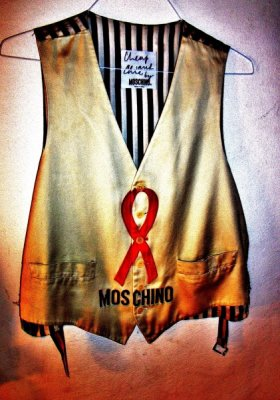 MOSCHINO WAISTCOAT AIDS<br />